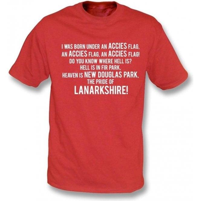Born Under An Accies Flag (Hamilton) T-Shirt
