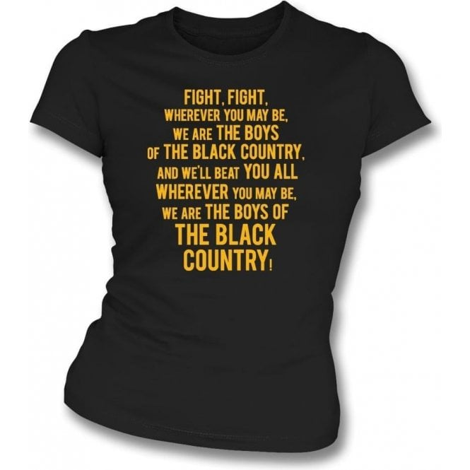 Boys Of The Black Country Womens Slim Fit T-Shirt (Wolverhampton Wanderers)