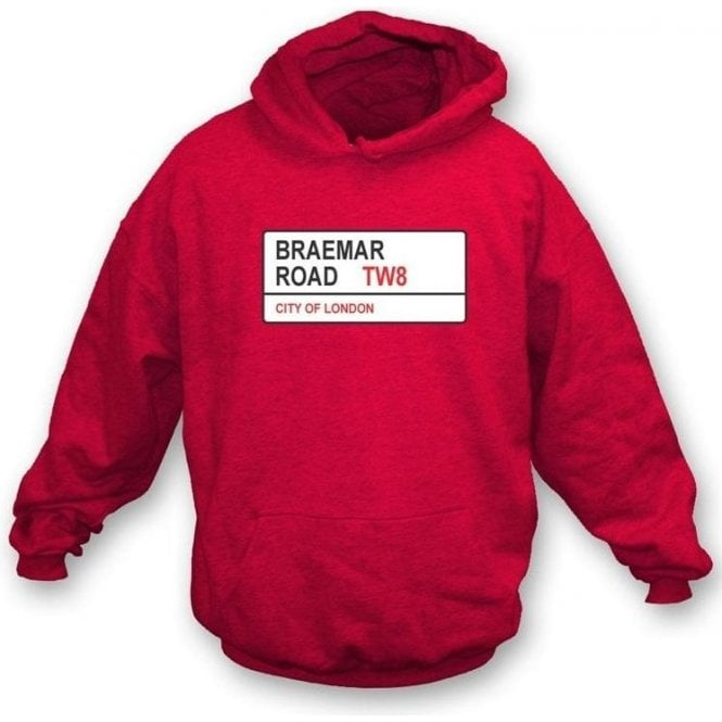 Braemar Road TW8 Hooded Sweatshirt (Brentford)