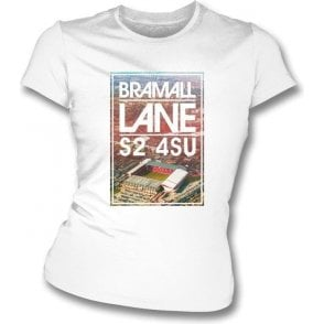 Bramall Lane S2 4SU (Sheffield United) Women's Slimfit T-Shirt
