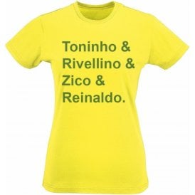 Brazil World Cup 1978 Womens Slim Fit T-Shirt