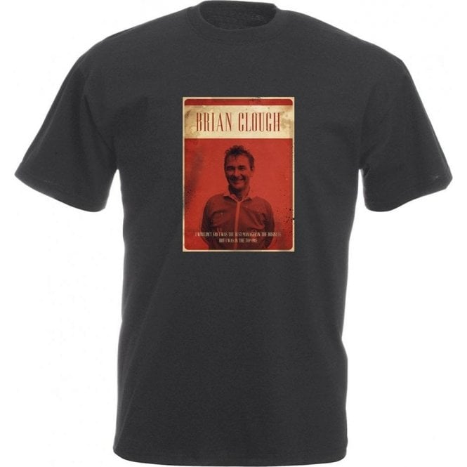 Brian Clough Vintage Poster Vintage Wash T-Shirt