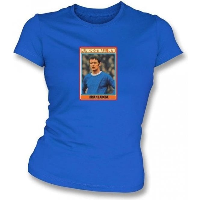 Brian Labone 1970 (Everton) Royal Blue Women's Slimfit T-Shirt