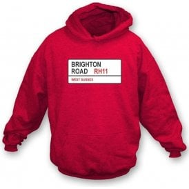 Brighton Road RH11 Hooded Sweatshirt (Crawley Town)