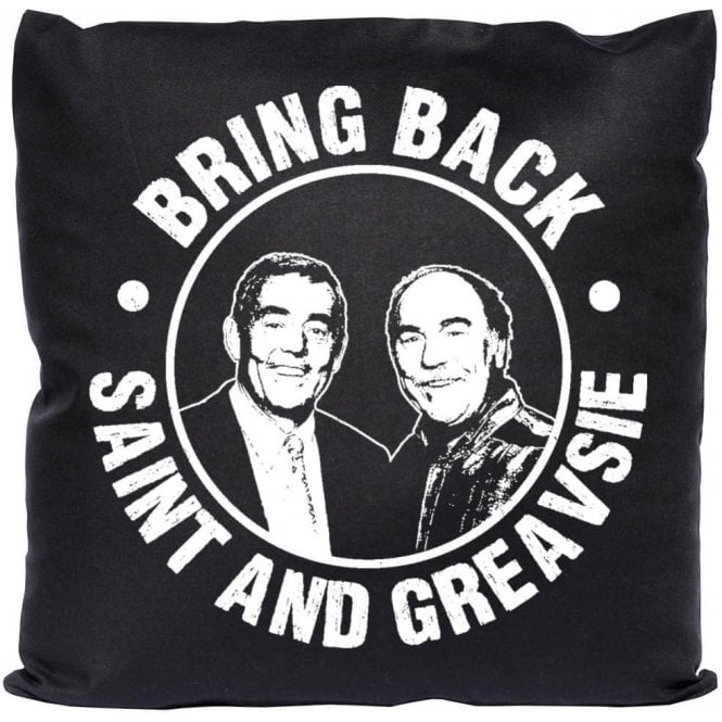 Bring Back Saint & Greavsie Cushion
