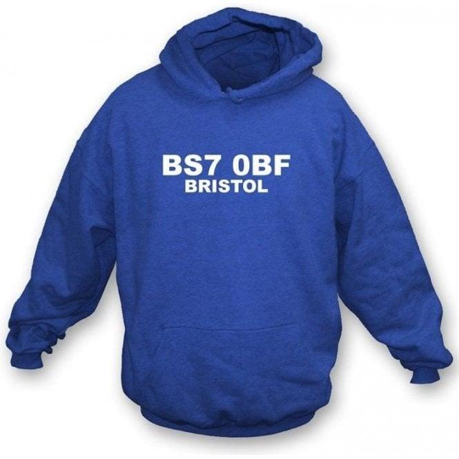 BS7 0BF Bristol Hoodede Sweatshirt (Bristol Rovers)