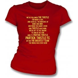By Far The Greatest Team (Partick Thistle) Womens Slim Fit T-Shirt