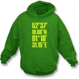 Carrow Road Coordinates (Norwich) Hooded Sweatshirt