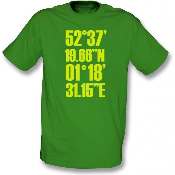Carrow Road Coordinates (Norwich) Kids T-Shirt