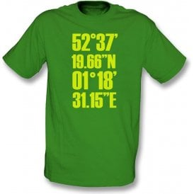 Carrow Road Coordinates (Norwich) T-Shirt