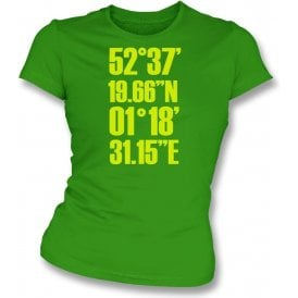 Carrow Road Coordinates (Norwich) Womens Slim Fit T-Shirt