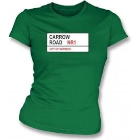 Carrow Road NR1 Women's Slimfit T-Shirt (Norwich City)