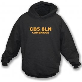 CB5 8LN Cambridge Hooded Sweatshirt (Cambridge United)