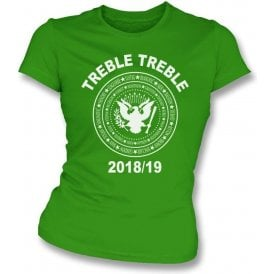 Celtic Treble Treble 2018/19 (Ramones Style) Womens Slim Fit T-Shirt