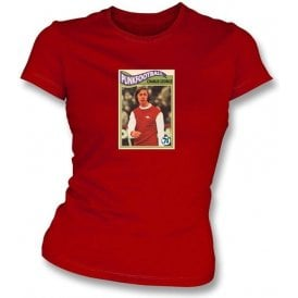 Charlie George 1971 (Arsenal) Women's Slimfit Red T-Shirt