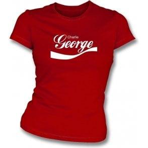 Charlie George (Arsenal) Enjoy-Style Womens Slim Fit T-Shirt