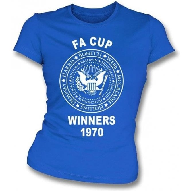 Chelsea FA Cup Winners 1970 Girl's Slim-Fit T-shirt