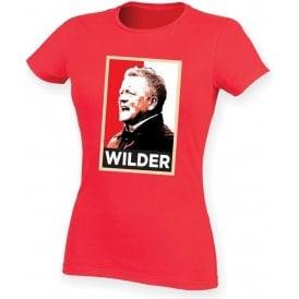 Chris Wilder - Hope Poster (Sheffield United) Womens Slim Fit T-Shirt