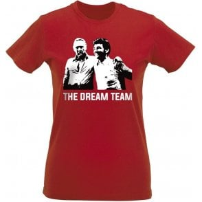 Clough & Taylor - The Dream Team (Nottingham Forest) Womens Slim Fit T-Shirt