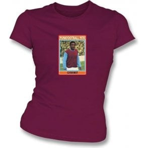 Clyde Best 1970 (West Ham) Maroon Women's Slimfit T-Shirt