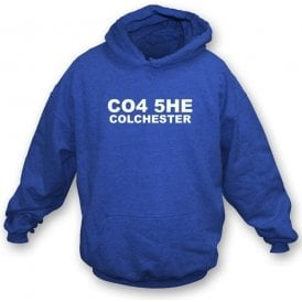 CO4 5HE Colchester Hooded Sweatshirt (Colchester United)