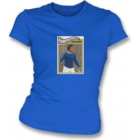 Colin Harvey 1970 (Everton) Royal Blue Women's Slimfit T-Shirt