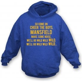 Come On Cheer The Boys (Mansfield Town) Kids Hooded Sweatshirt