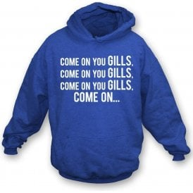 Come On You Gills (Gillingham) Kids Hooded Sweatshirt