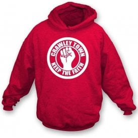 Crawley Town Keep the Faith Hooded Sweatshirt