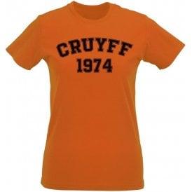 Cruyff 1974 (Netherlands) Womens Slim Fit T-Shirt