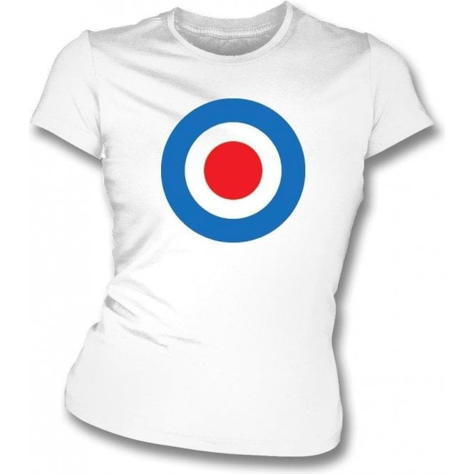 Crystal Palace Classic Mod Target Womens Slim Fit T-Shirt