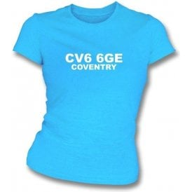 CV6 6GE Coventry Women's Slimfit T-Shirt (Coventry City)