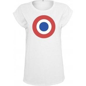 Dagenham & Redbridge Classic Mod Target Womens Extended Shoulder T-Shirt