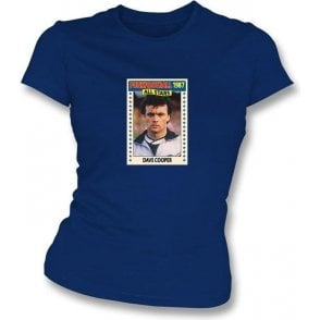 Dave Cooper 1987 (Rangers) Navy Women's Slimfit T-Shirt