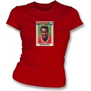 David Rocastle 1989 (Arsenal) Red Women's Slimfit T-Shirt