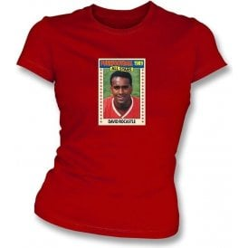 David Rocastle 1989 (Arsenal) Red Women's Slimfit T-Shirt