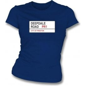 Deepdale Road PR1 Women's Slimfit T-Shirt (Preston)