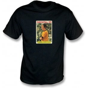 Derek Dougan 1970 (Wolves) Black T-Shirt