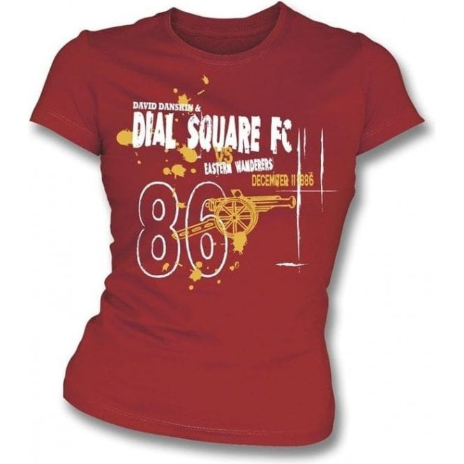 Dial Square FC (Arsenal) Vintage Wash Girl's Slim-Fit T-shirt