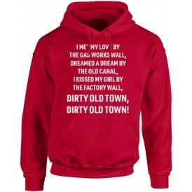Dirty Old Town (Salford City) Chant Hooded Sweatshirt