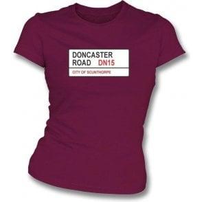 Doncaster Road DN15 Women's Slimfit T-Shirt (Scunthorpe United)
