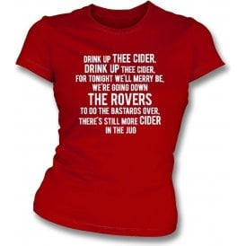 Drink Up Thee Cider (Bristol City) Womens Slim Fit T-Shirt