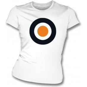 Dundee United Classic Mod Target Womens Slim Fit T-Shirt