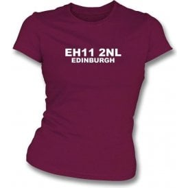 E11 2NL Edinburgh Women's Slimfit T-Shirt (Hearts)