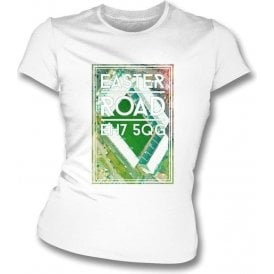 Easter Road EH7 5QG (Hibernian) Women's Slimfit T-Shirt