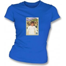 Eddie Gray 1970 (Leeds United) Royal Blue Women's Slimfit T-Shirt