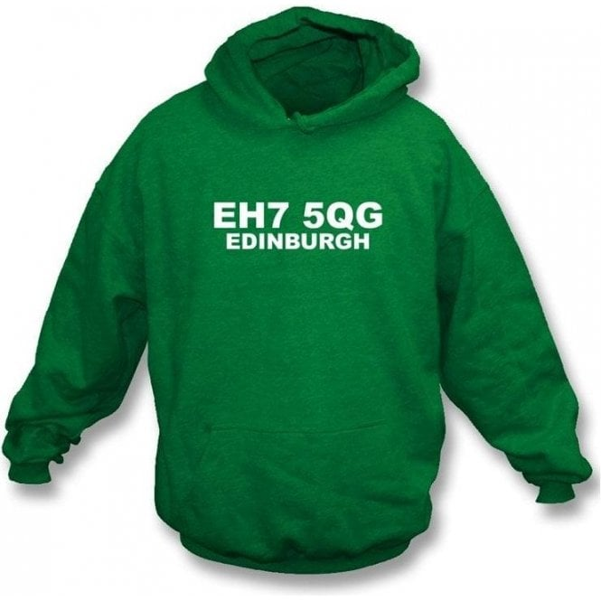 EH7 5QG Edinburgh Hooded Sweatshirt (Hibs)