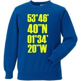 Elland Road Coordinates (Leeds United) Sweatshirt