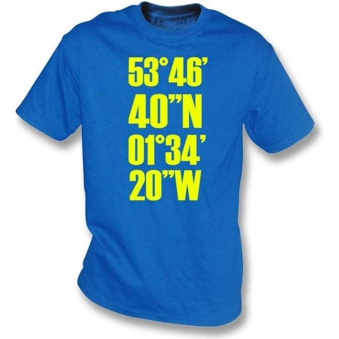 Elland Road Coordinates (Leeds United) T-Shirt