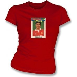 Eric Cantona 1994 (Man United) Red Women's Slimfit T-Shirt